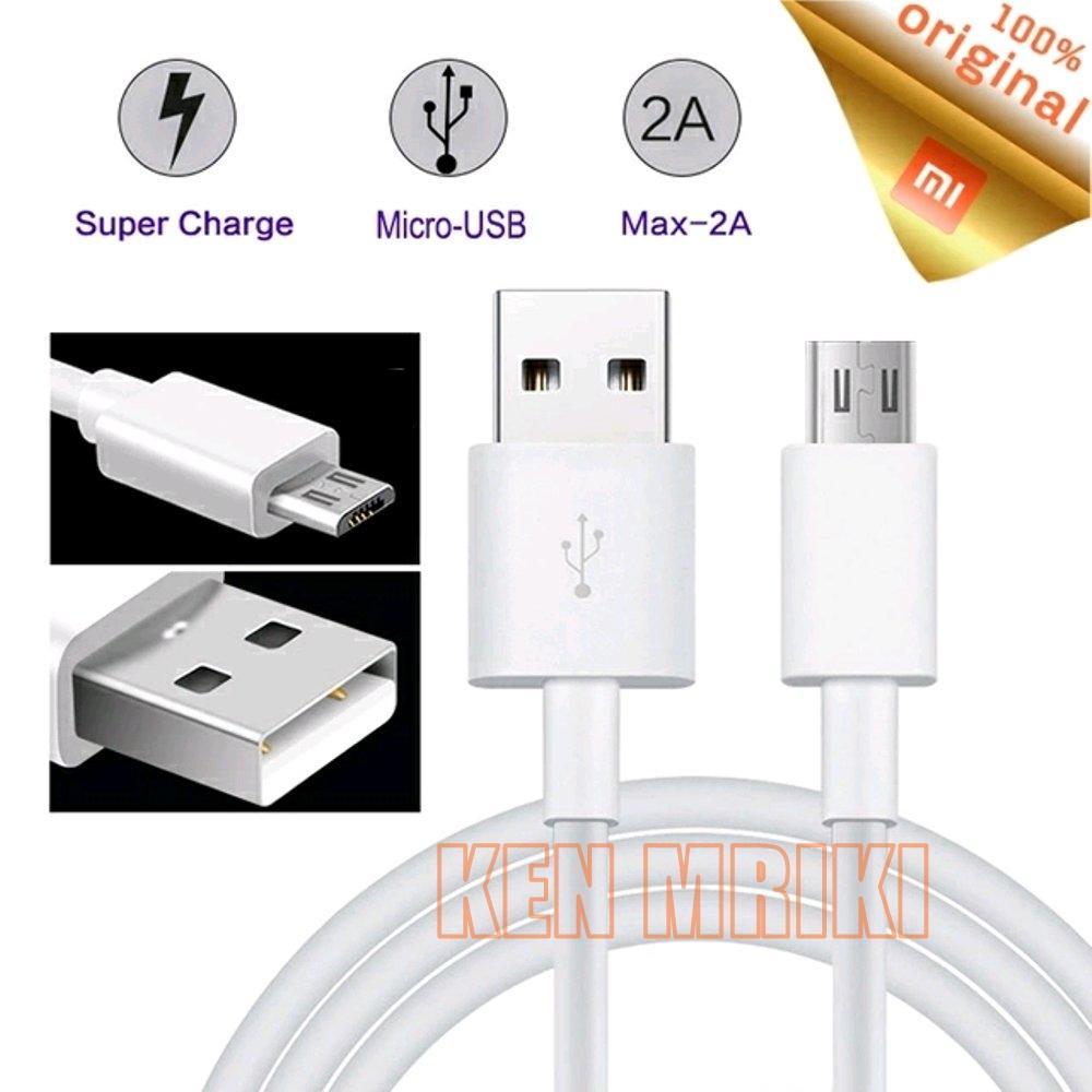 Xiaomi Kabel Data Micro USB Bawaan Xiaomi Redmi 5+ Support Fast Charging - Putih