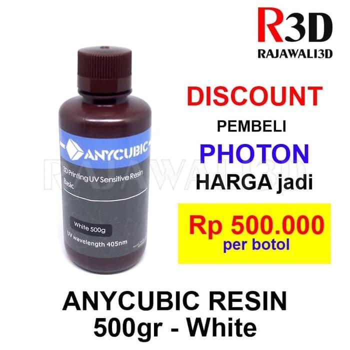 SLA DLP 3D Printer Resin 500 White 405NM UV Sensitive Resin