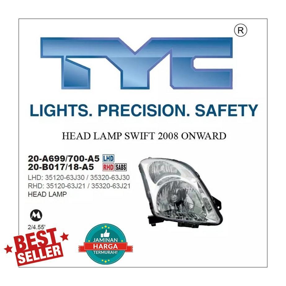 HEAD LAMP SWIFT 2008 ONWARD LH