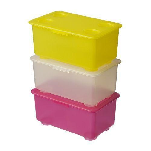 Jual IKEA GLIS Box With Lid- Kotak Dengan Penutup- Isi 3 Box RZA_01172