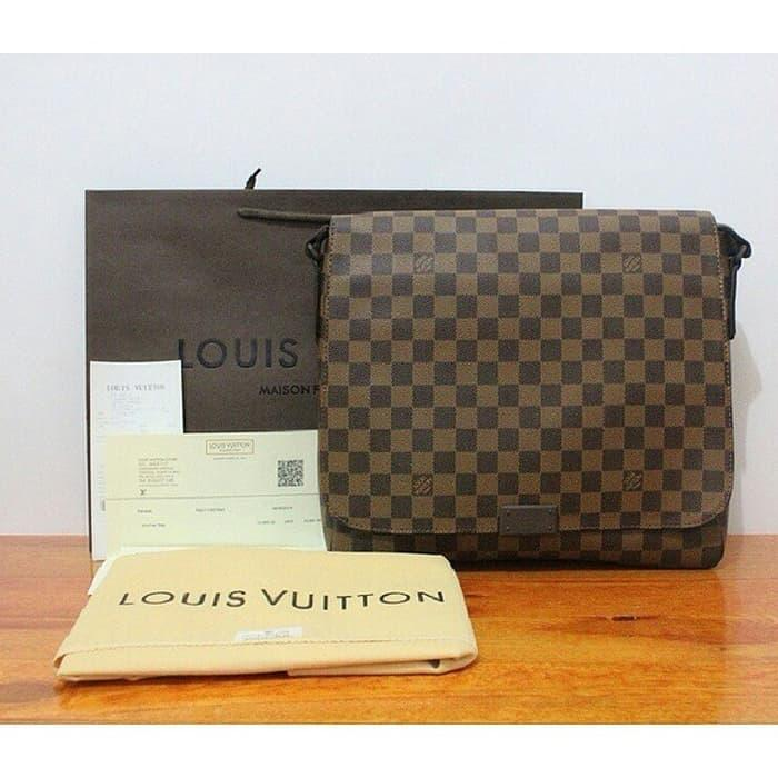 HOT SPESIAL!!! JUAL TAS LV LOUIS VUITTON MM DAMIER EBENE MIRROR QUALITY 1:1 ORIGINAL - PWrpl0