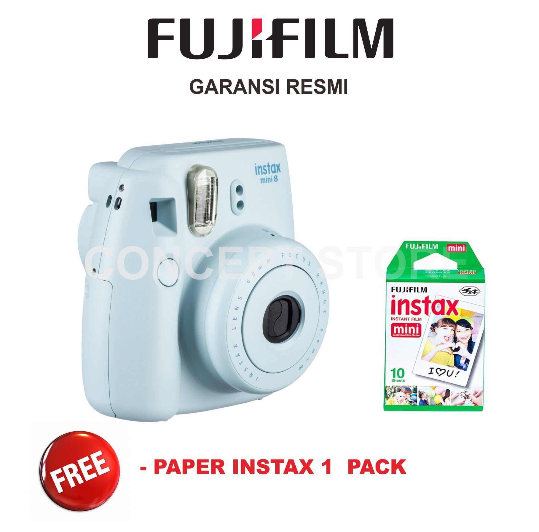 Fujifilm Instax Mini 8 Kamera Polaroid . Mini 8 Free Paper 1 pack