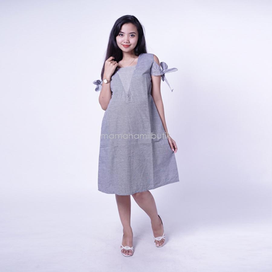 Ning Ayu Dress Hamil Menyusui Pita Pricil Dress - DRO 901   Baju Menyusui  Lengan Panjang 1135f78996