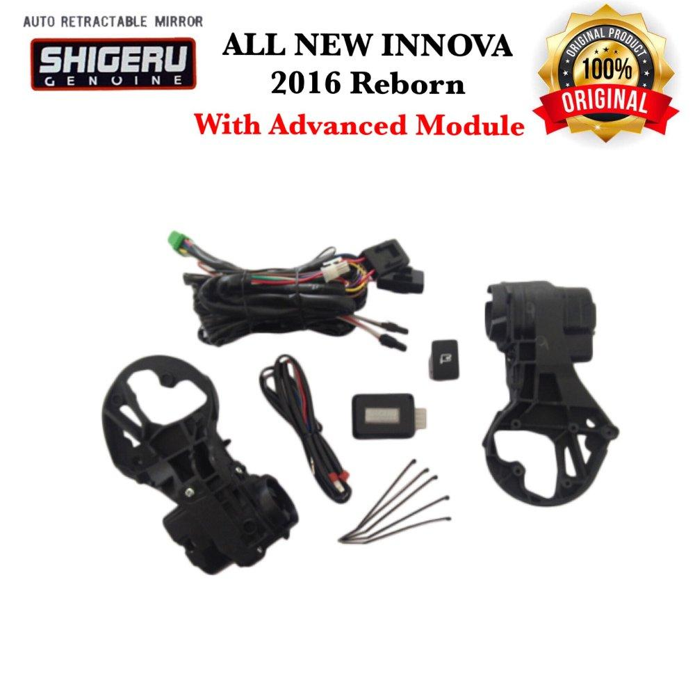 Spion Lipat Elektrik Otomatis Mobil Auto Retract Mirror Kit Electric Modul SHIGERU for ALL NEW KIJANG INNOVA 2016 Reborn (Include Advanced Module)