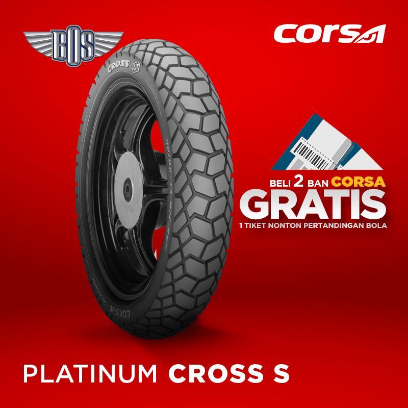 Ban motor corsa- CROSS S- (Front) -70/90-17-TUBELESS-GRATIS JASA PASANG