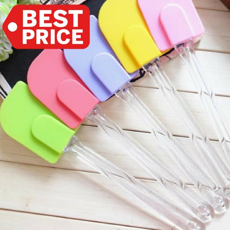 TOKO49 - Pengaduk adonan kue roti spatula plastik spatula silikon unik