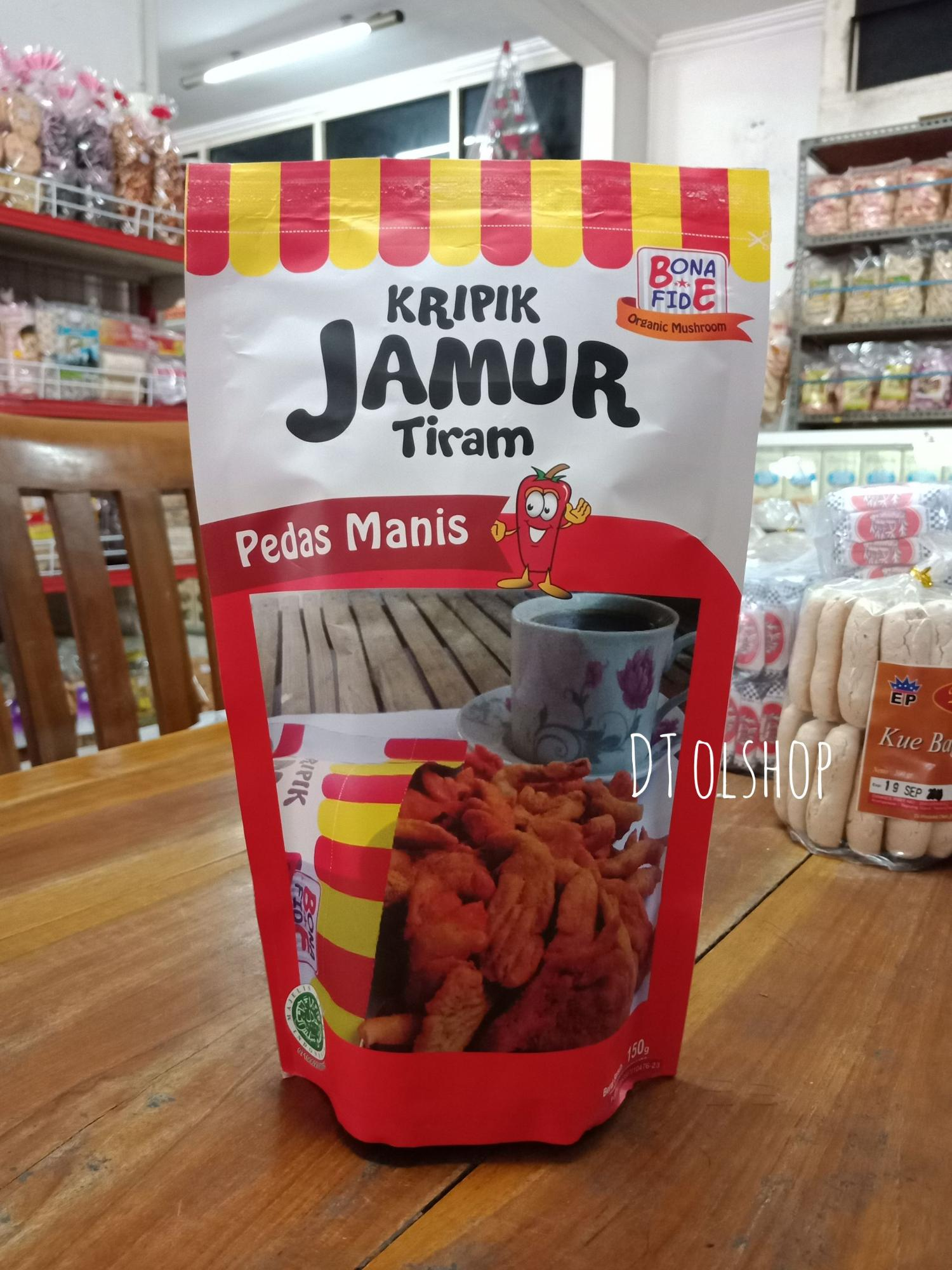 Kripik / Keripik Jamur Tiram Cemilan/ Camilan Sehat Vegetarian