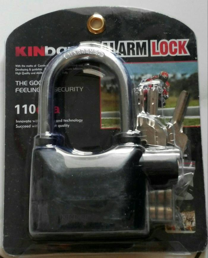 Gembok alarm alaram motor mobil Rumah gudang pagar toko merk kinbar - jpwSPCa