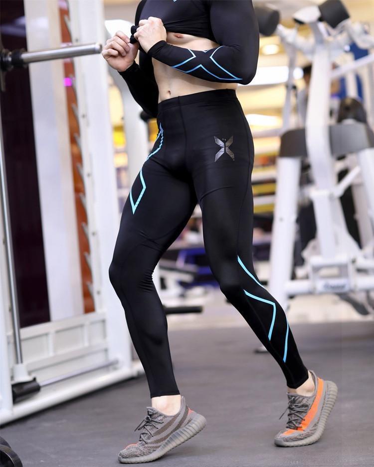 Pria Binaraga Kebugaran Celana Panjang Pakaian Menjalankan Clothes Riding Pakaian Cepat Kering Celana Kompresi Celana SportsTights