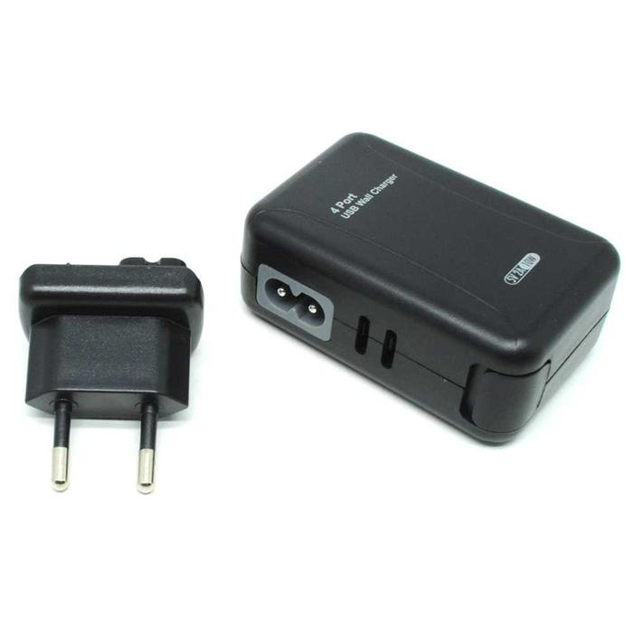 Hemat 10%!! Thunder Traveler Charger 4 Usb Port 5V 2A With Single Eu Plugs - ready stock