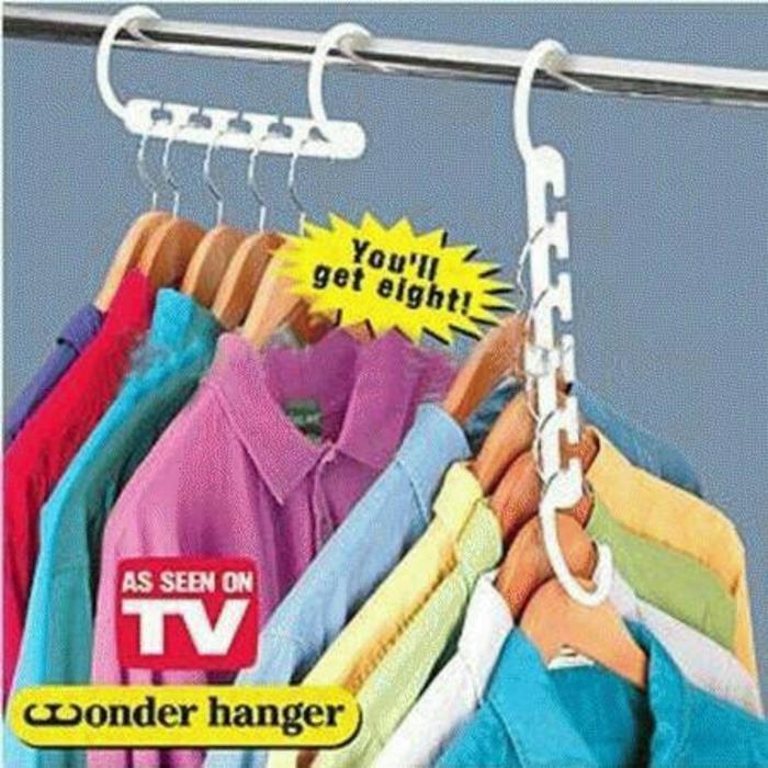 Magic Hanger/Gantungan Baju Dengan Banyak Gantungan Sehingga Lemari Pakaian Menjadi Lebih Rapi 8 Pcs