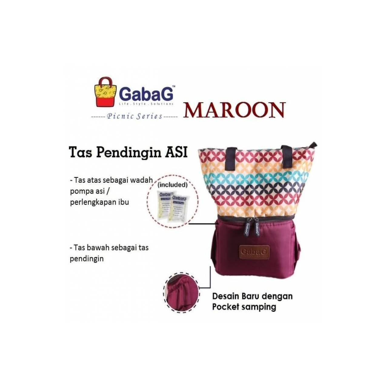 Gabag Cooler Bag Backpack Series Radja Ramada Free 2 Ice Gel Bags In 1 Picnic Maroon Coolerbag Tas Asip Asi