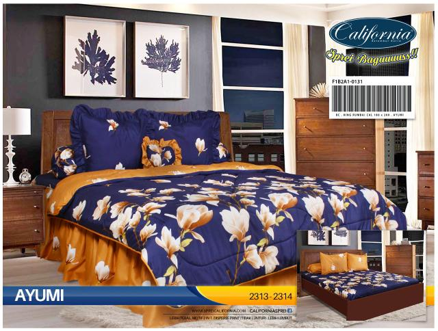 BEDCOVER SET CALIFORNIA KING 180X200 AYUMI / SPREI BED COVER SET EXCLUSIVE
