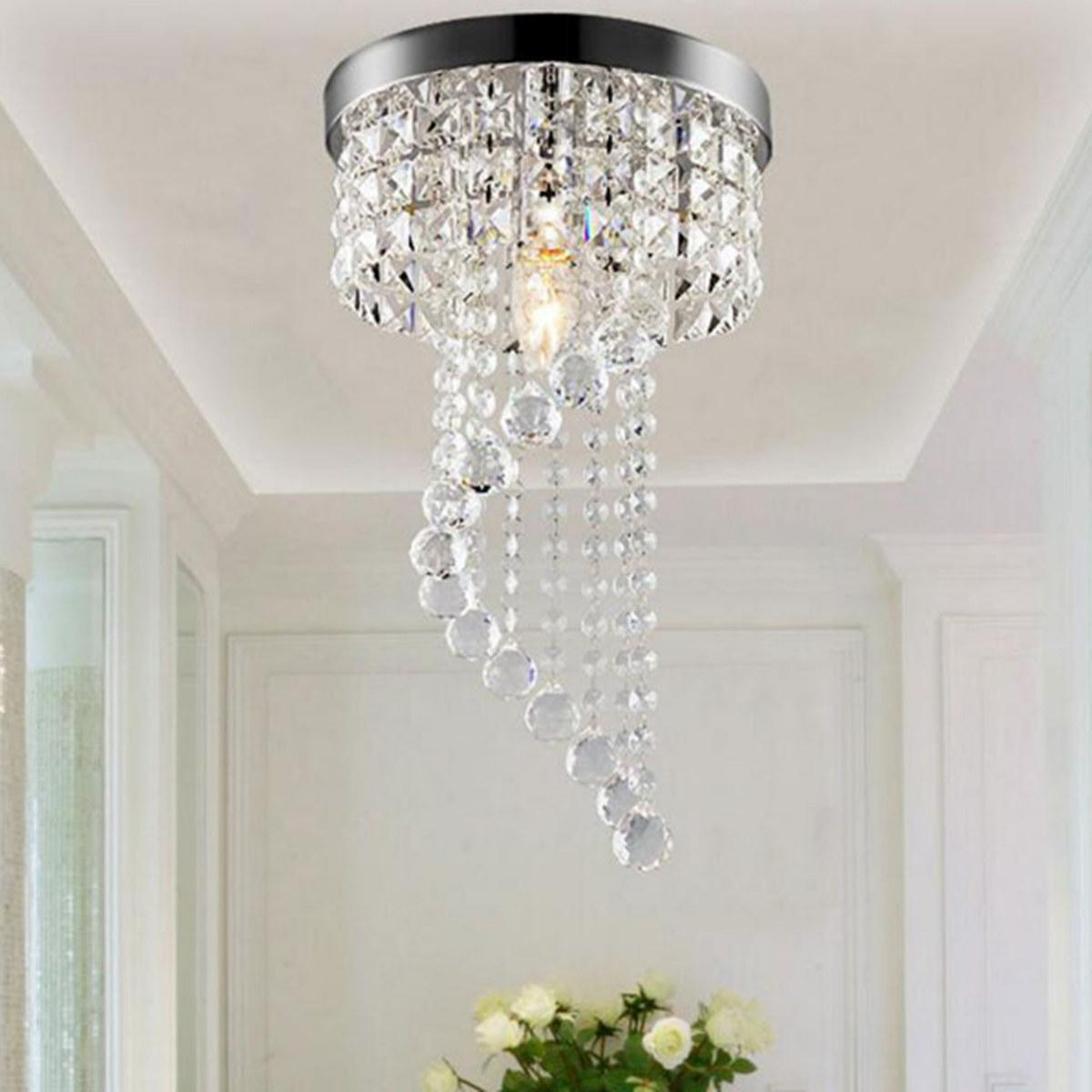 Modern led galaxy spiral crystal chandelier lamp fixture lighting pendant decor 220v
