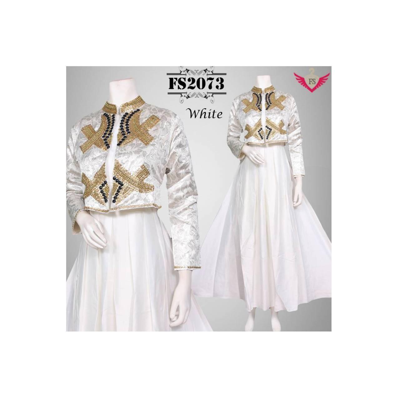 baju muslim model terbaru 2016 warna putih , baju gamis modern