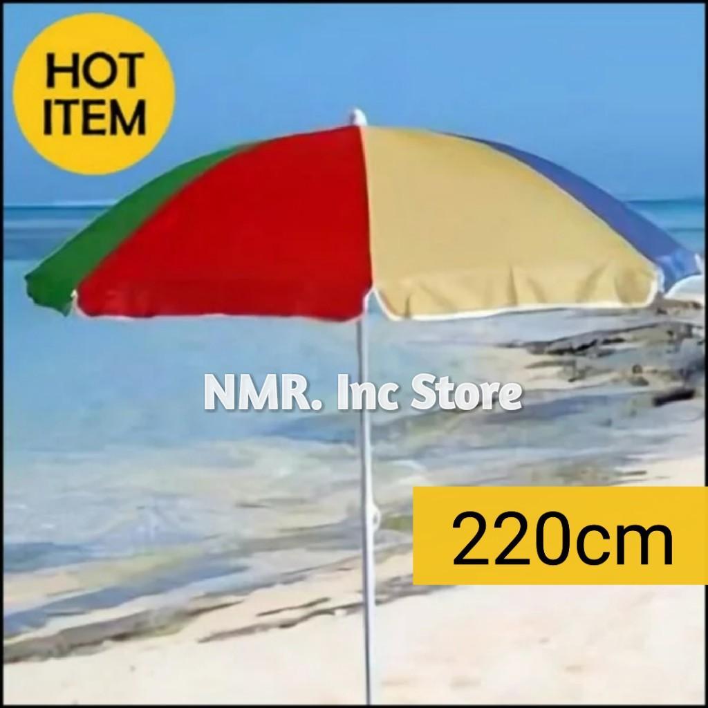 Payung tenda pantai diameter 220cm pelangi