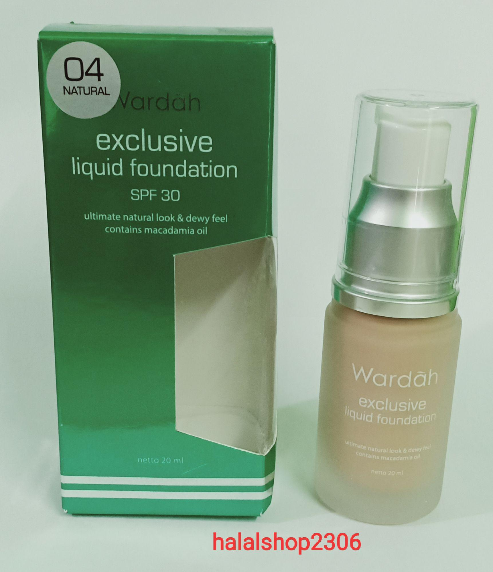 Harga Original Wardah Exclusive Liquid Foundation Alas