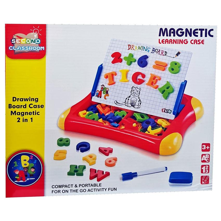 Momo Magnetic Learning Case Second Classroom - Drawing Board Case Magnet - Papan Tulis By Momo Baby Shop.