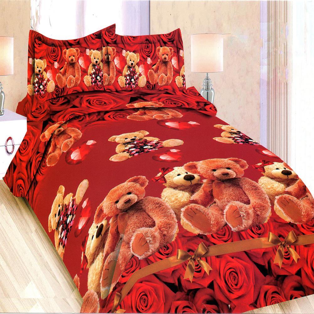 Bonita Sprei King Motif Rose Teddy 180x200 cm