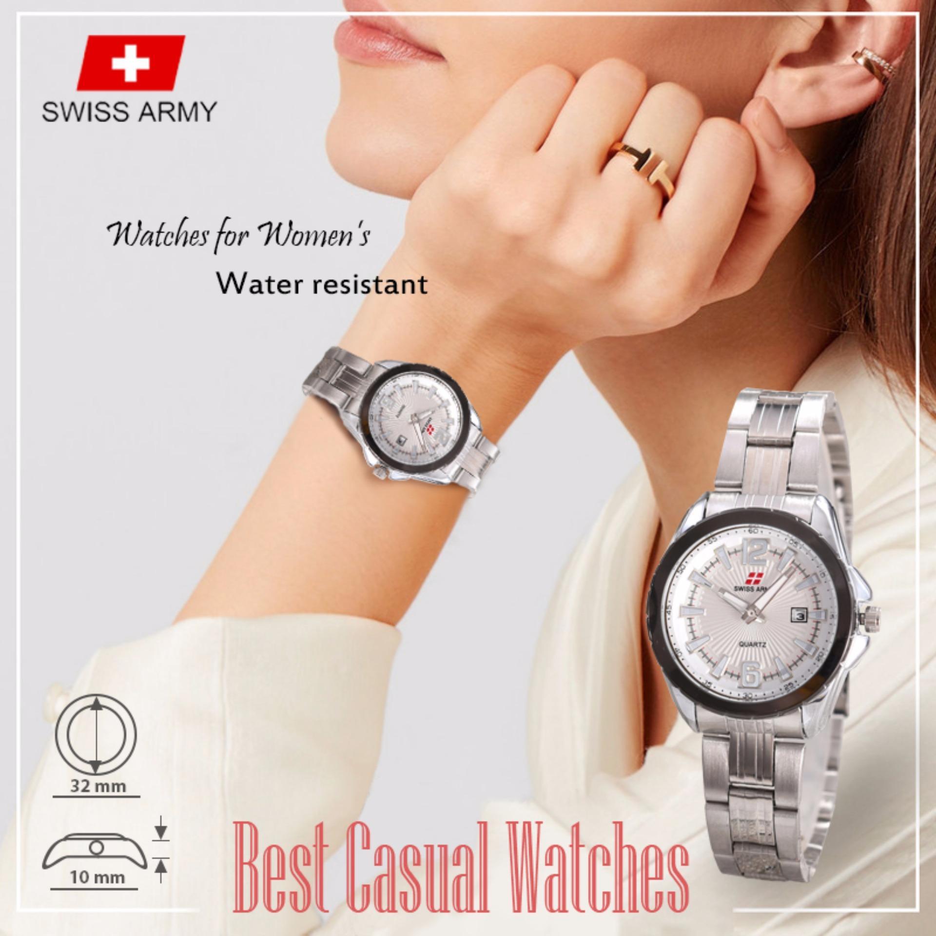 Swiss Army - Casual Watches - Jam Tangan Wanita - TGL - Stainless Steel - 4U-Store