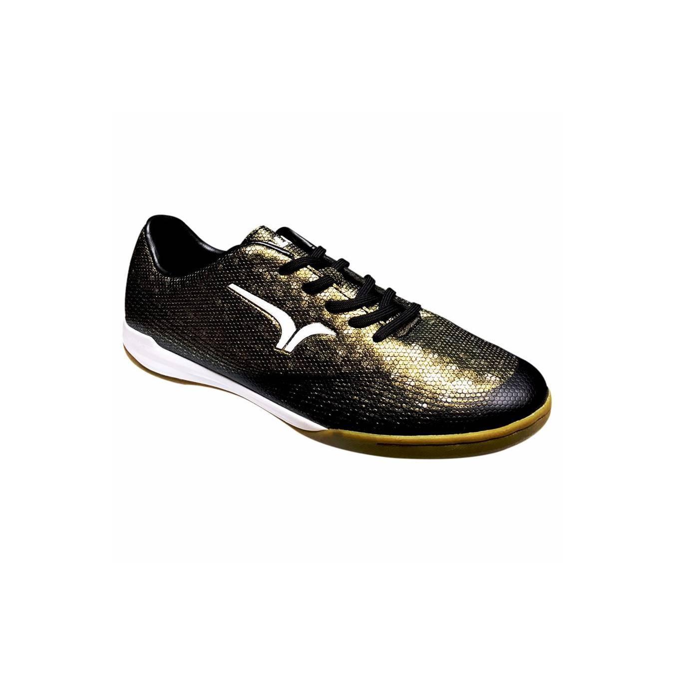 Jual Calci Sepatu Futsal Conquest - Black Gold Murah