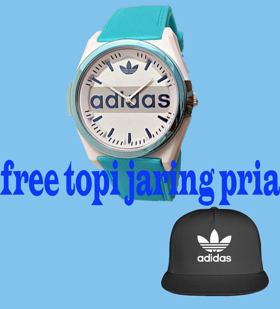 Jam Tangan Wanita Adidas Fashion Rubber strap_BONUS Topi Adidas