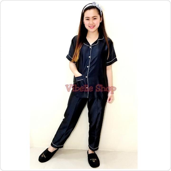 SATINCP - Baju Tidur Piyama Satin Silky Velvet Vibelle Shop Grosir Baju Tidur Murah Wanita