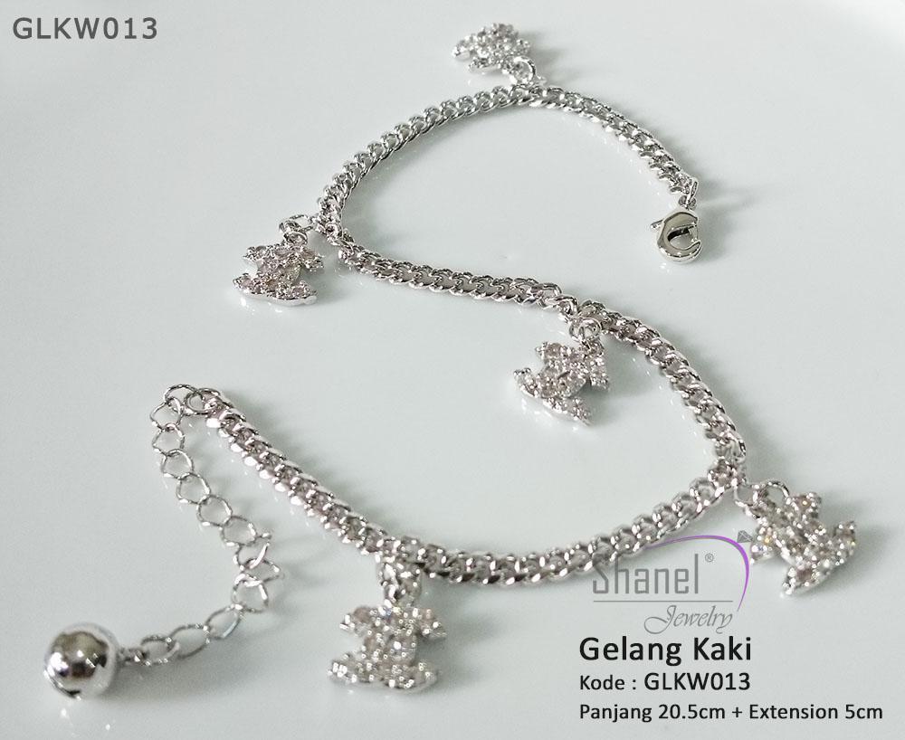 Gelang Kaki Chanel Perhiasan Lapis Emas luxury premium quality