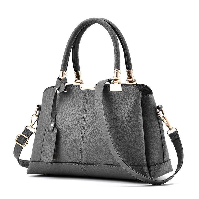 Tas Branded Wanita - Top-Handle Bags - PU Leather - 82497
