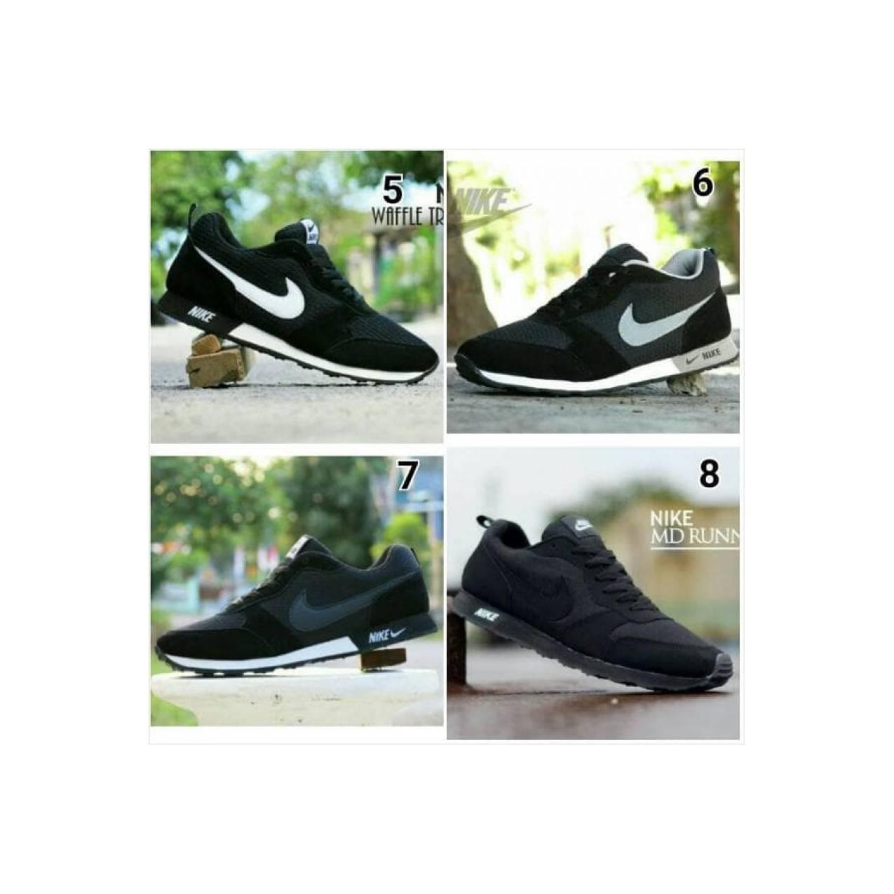 TERBARU Sepatu Pria Nike Waffle Trainner Hitam Putih / Sport / Joging