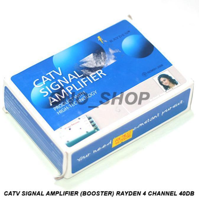 TERLARIS! CATV Signal Amplifier ( Booster ) 4 Channel 40Db Rayden