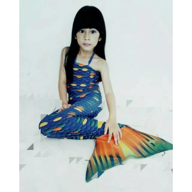 BEST SELLER baju kostum renang mermaid duyung mainan anak motif ariel & nemo