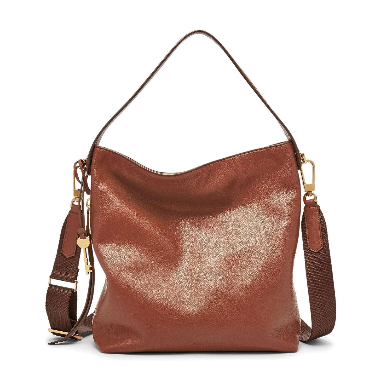Fossil Maya Hobo - Crossbody Brown Leather - Tas Wanita - ZB6979-200 - VC