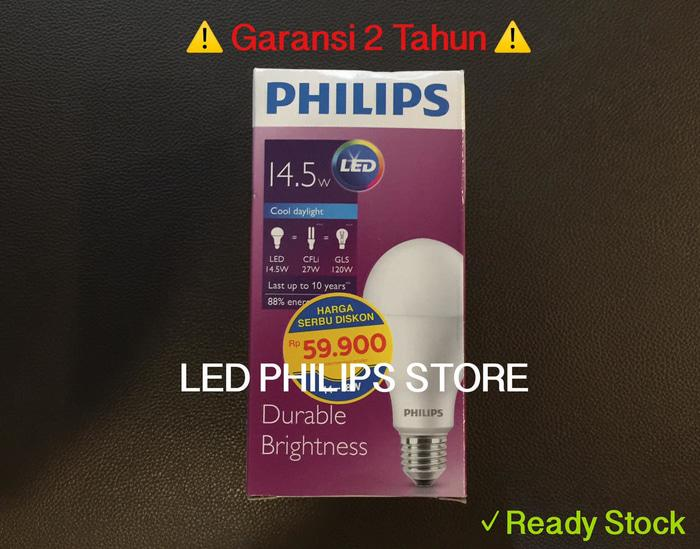 Sedang Diskon!! Lampu Bohlam Led Philips 14 Watt Putihcool Day Light (14W 14 W 14Watt - ready stock