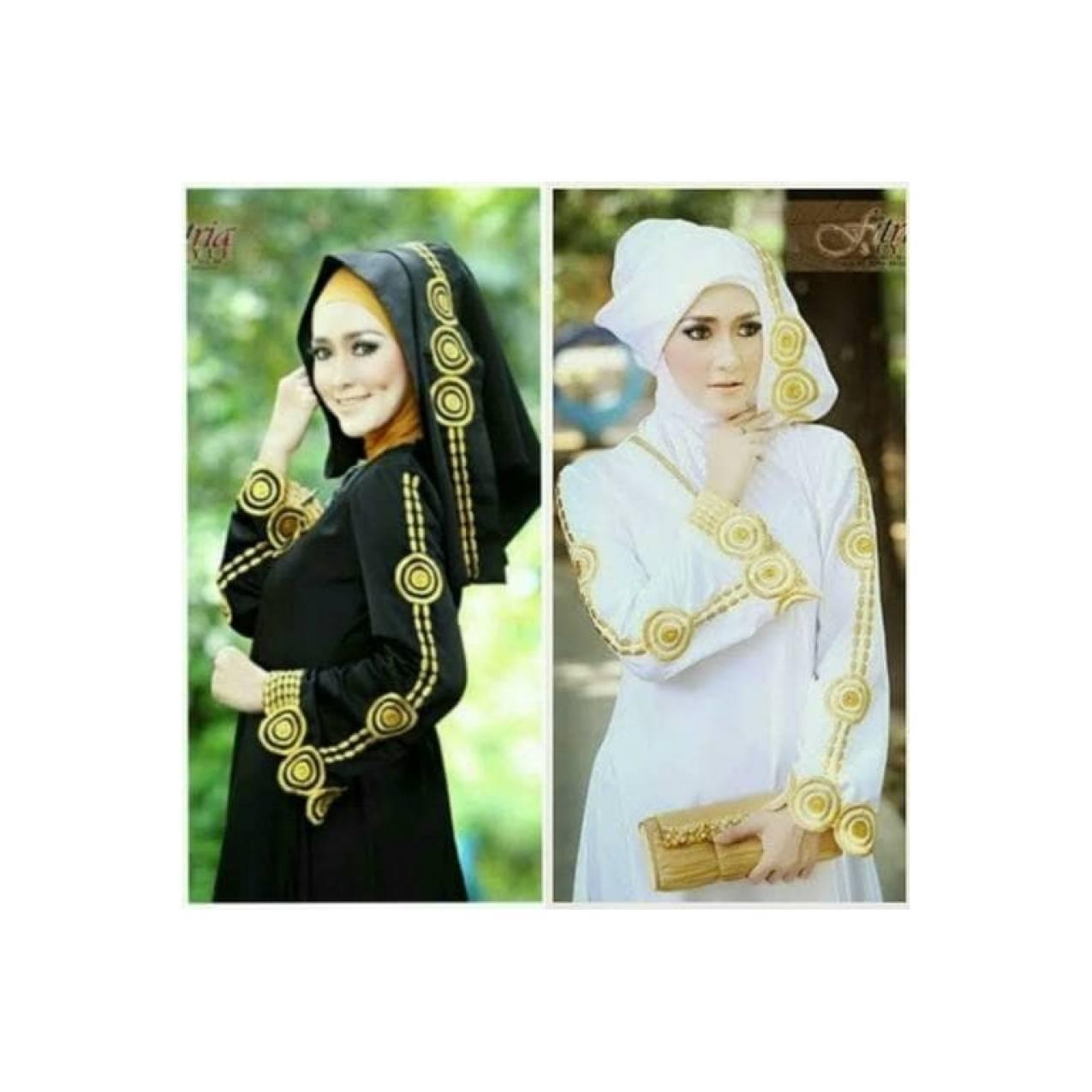 abaya busana muslim gamis arab ajwa hitam plus pasmina