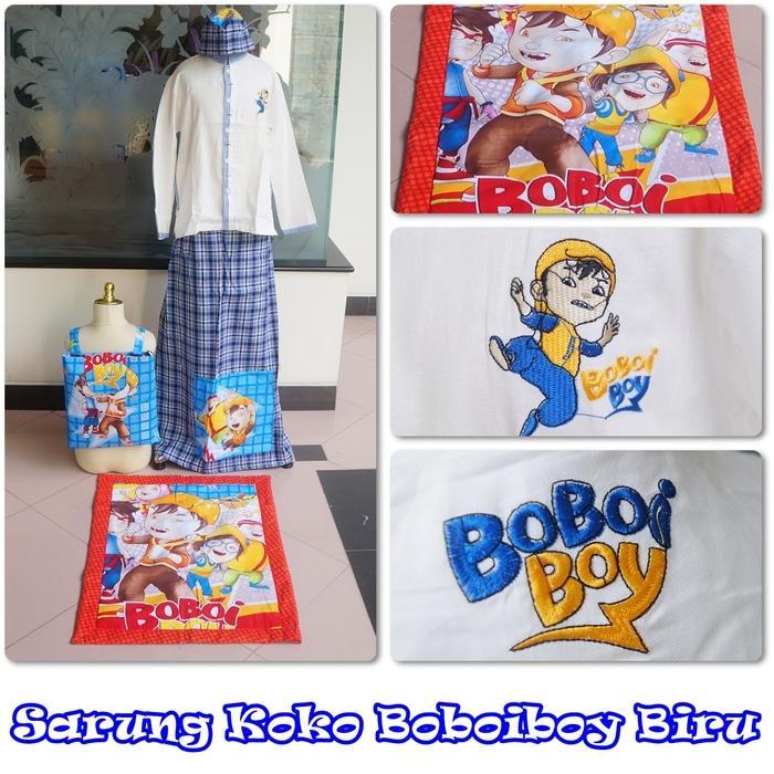 Baju Koko Boboiboy Biru XS / baju koko / baju koko anak / baju muslim / baju koko karakter / baju koko murah / baju koko keren / baju koko lucu / baju koko berkualitas