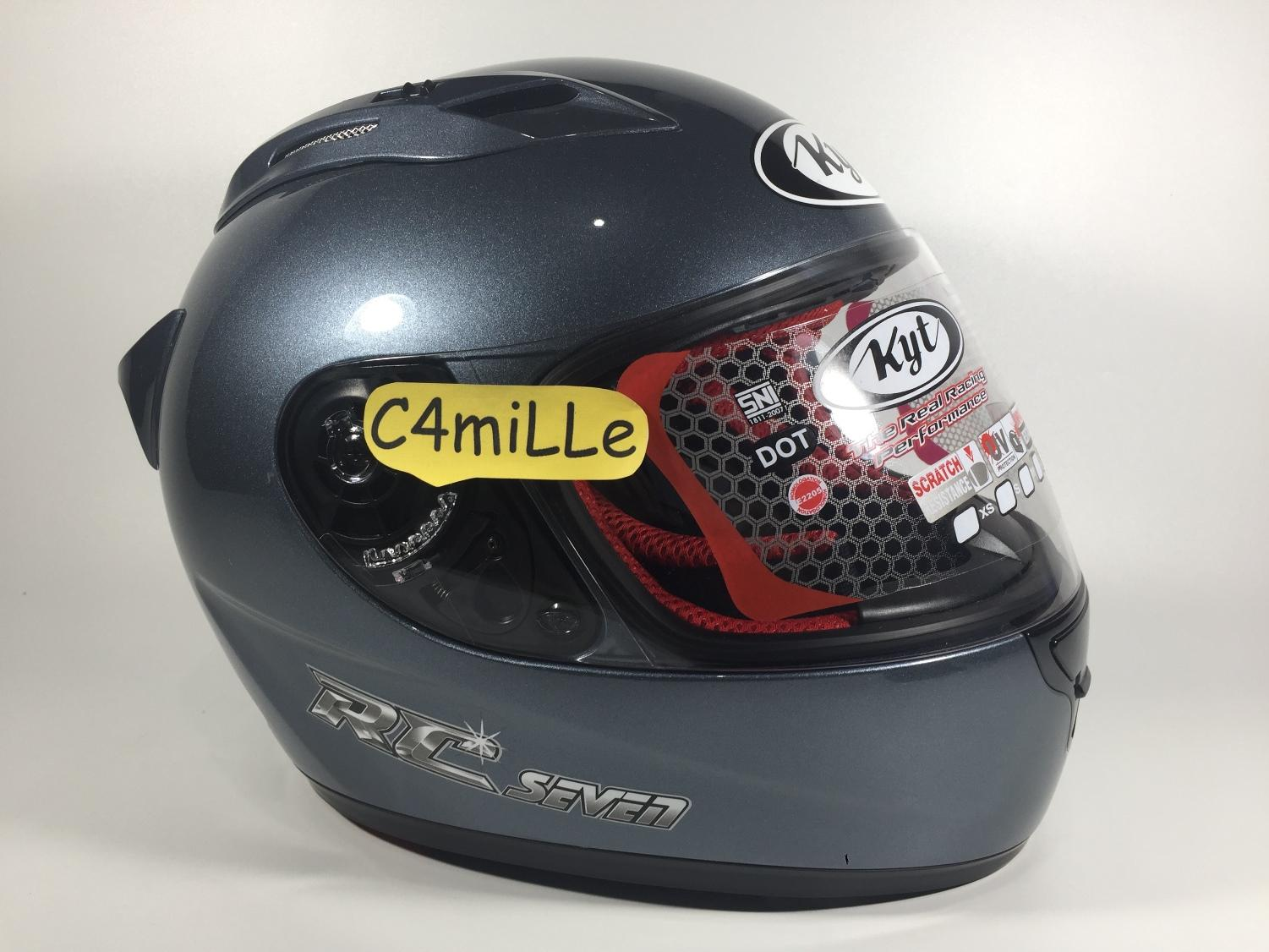HELM KYT RC 7 SOLID GREY RC7 FULL FACE SIZE L