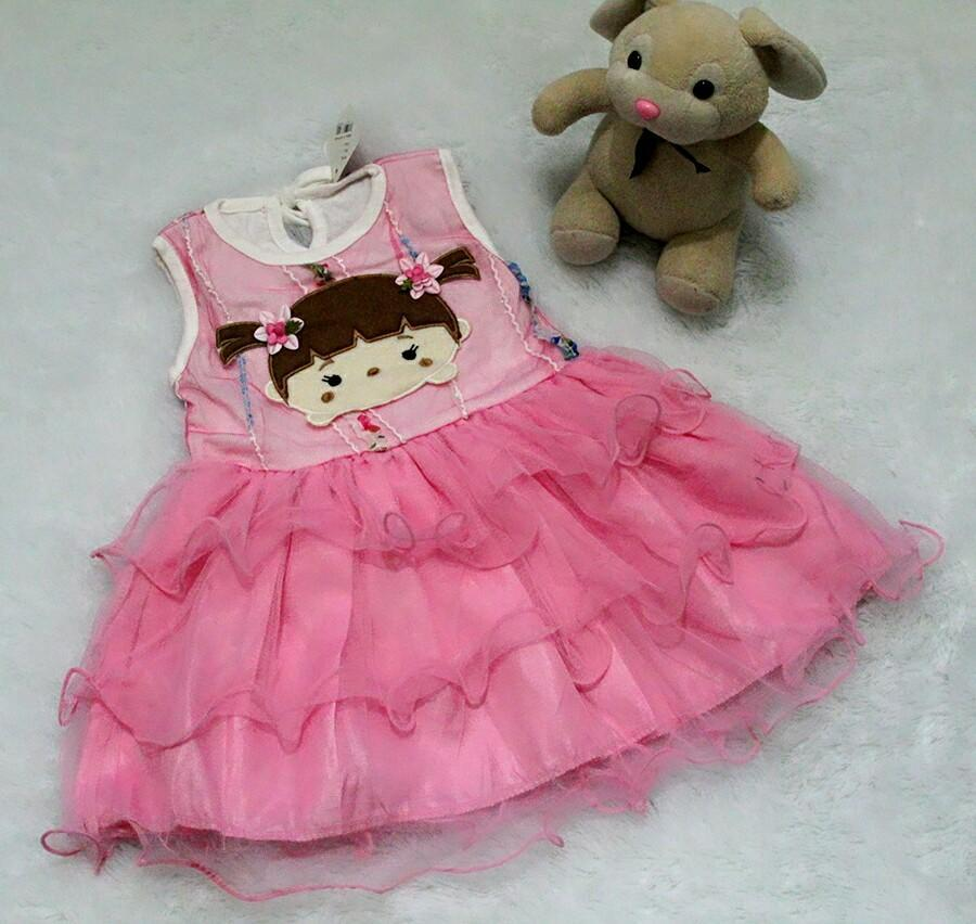 All Size 3-12 Bulan / Dress Baju Bayi Anak - Dress Cute Baby