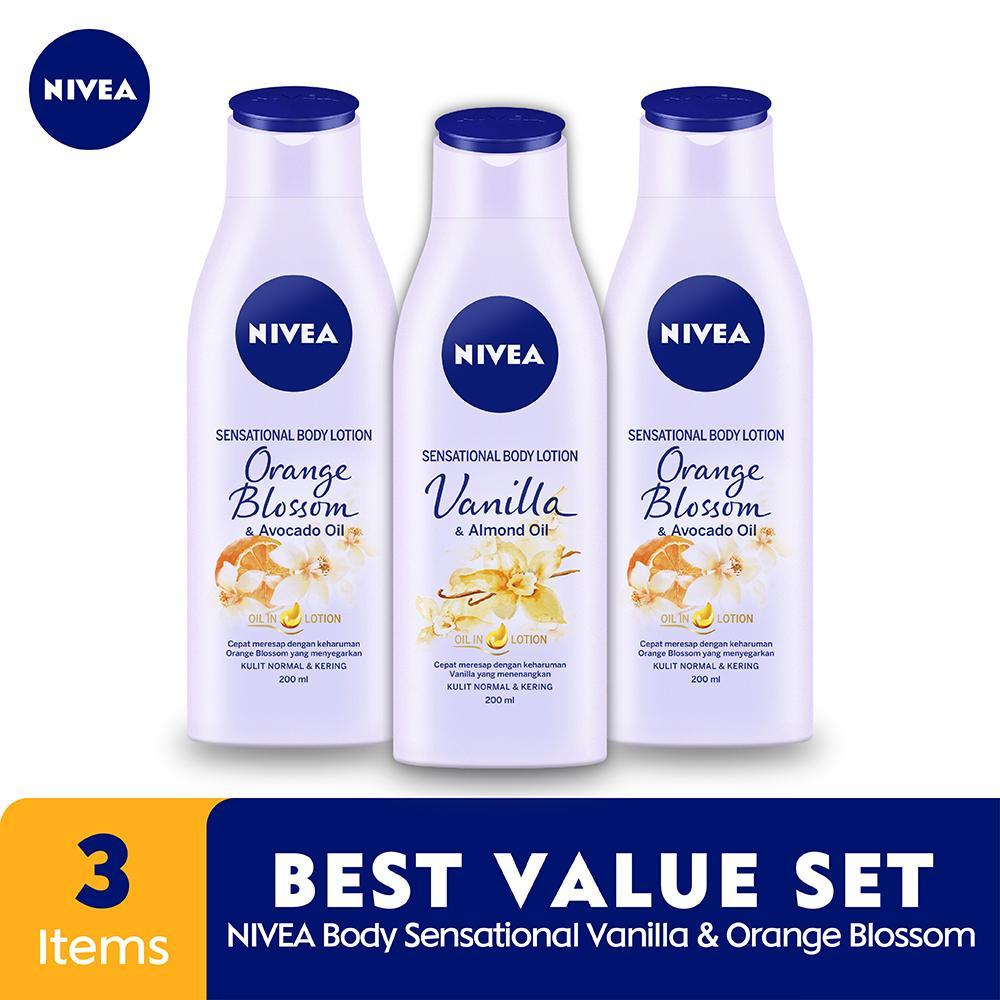 Nivea Body Sensational Vanila & Orange Blossom - Best Value Set By Lazada Retail Nivea.