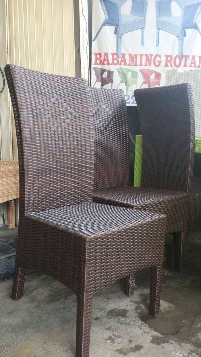 Kursi makan/cafe/resto rotan sintetis @ sofa  minimalis kursi bantal sarung sofabed ruang tamu santai tidur lipat angin