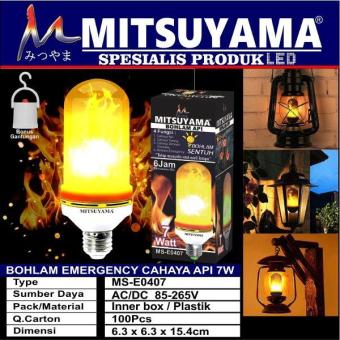 Harga Penawaran Bohlam Emergency Lampu Api/Obor 7 Watt (MS-E0407) discount