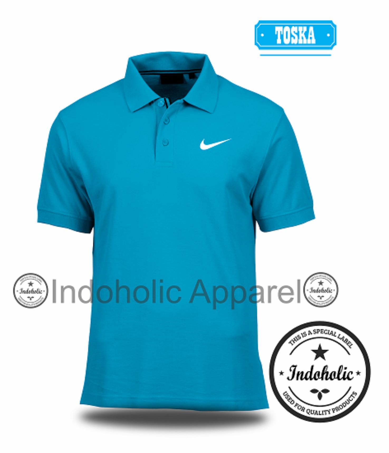 Polo Shirt Kaos Distro Sport Olahraga Jersey Original Nike Branded T-Shirt Fashion Pria Wanita Cowok Cewek Baju T-Shirt Jakarta Bandung Terbaru Jaman Now Kekinian Atasan Pakaian Polos Pendek Kerah Berkera