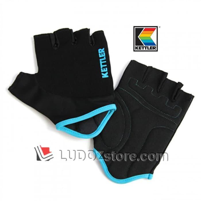 ORIGINAL!!! BLACK Multi Purpose Exercise Gloves Sarung Tangan Training Gym Kettler - pL0zwx