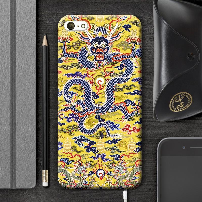 Oriental Gaya Jubah Kaisar Retro Selubung Lunak IPhone6S Plus Apple Identitas Lulur Bungkus Penuh
