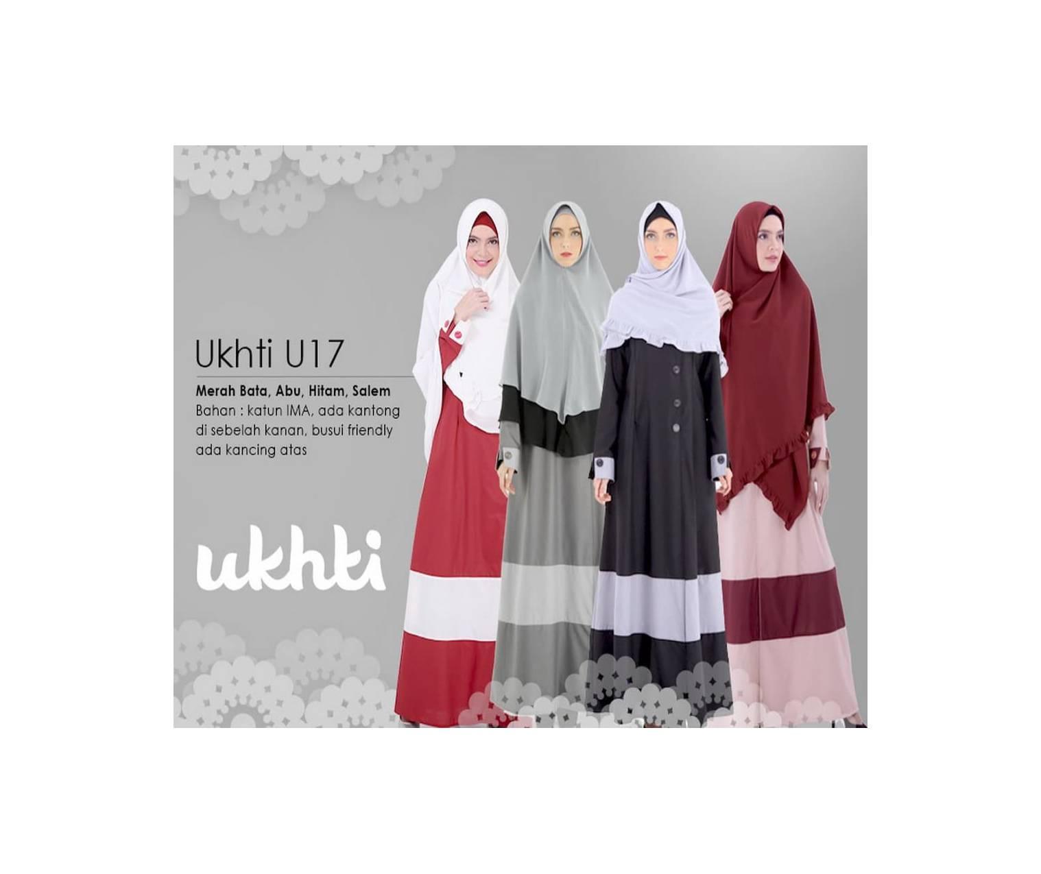 PROMO! Gamis Ukhti U 17 Bahan Katun Ima Size XL