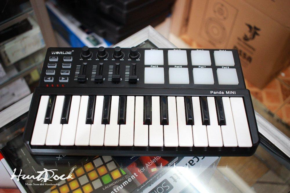 Jual midi controller Worlde Panda mini 25-Key USB Keyboard and Drum Pad Murah di bandung