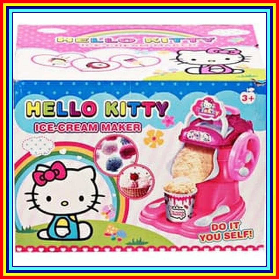 Fruit Ice Cream Maker Dessert Bullet Mesin Pembuat Es Krim Buah Oxone Ox 873 Alat Mainan Anak Hello Kitty Pink