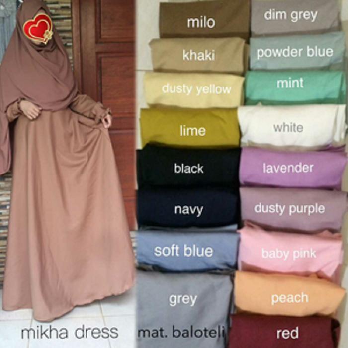 Adzra Gamis Muslimah Polos - Kamira Dress