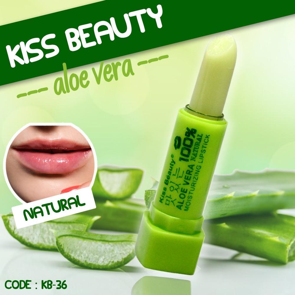 Kiss Beauty Lip Balm Aloe Vera Lipstikck Moisturizing Daftar Harga Bioaqua Lipstick Herbal Alami Asli Original Promo Murah