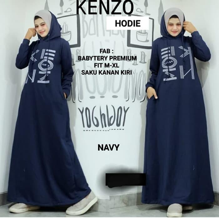 Dress Wanita Muslim Hijab Maxi Gamis Kendari - Navy